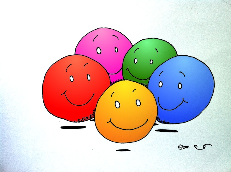 Cartoon Surround yourself with Positive people for Perseka site 2011 Copyright Kaveh Adel Iranian American Cartoonist